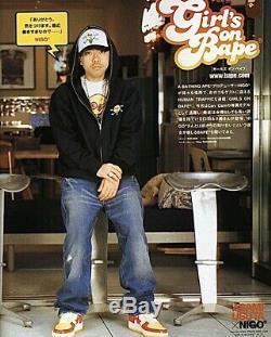 100% Authentic Billionaire Boys Club Bbc Ice Cream Cones & Bones Hoodie L