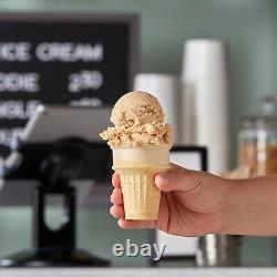 1200 Pack Large Cake Flat Bottom Ice Cream Shop Scoop Cone for Dispenser