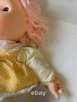 1980 Vintage 24 Large Girl Ice Cream Doll- Excellent Condition- Pink Hair