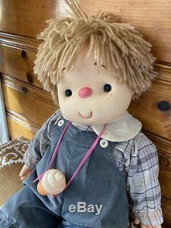 29 Vintage 80s Ice Cream Doll with Cone Necklace Large J Shin Co Hong Kong boy