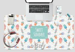 3D Ice Cream Pattern 141 Non-slip Office Desk Mouse Mat Large Keyboard Pad Game