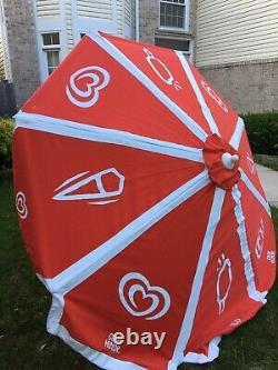 8 Large Beach Umbrella Good Humor Ice Cream Vintage Vendor Cart Patio Sun Shade