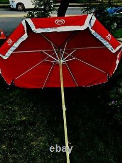 8 Large Ice Cream Vintage Vendor Cart Patio Good Humor Sun Shade Beach Umbrella