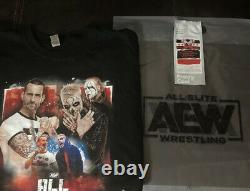 AEW CM Punk/Darby I WAS THERE Size LARGE Event Shirt 9/5/21 + Ice Cream Wrapper