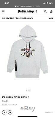 AUTHENTIC Palm Angels x BBC Ice Cream collab hoodie XL