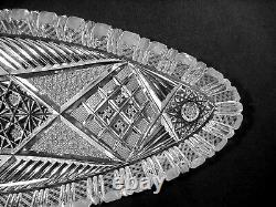 Abp Cut Glass Ice Cream Set Hawkes Strawberry And Large Bohemian Tray