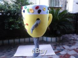 Advertising Drink Ice Cream Cup Mascot Costume Suits Cosplay Party Game Dress US
