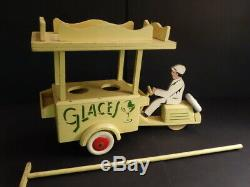 All Original Large Motorcycle With Ice Cream Cart 161/2 France 1950