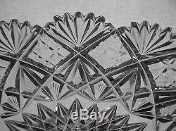 American Brilliant Cut Glass Large Dorflinger Marlboro Pattern Ice Cream Tray