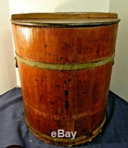 Antique Large C And D Philadelphia No 30 Wooden Butter Or Ice Cream Churn