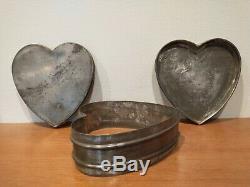 Antique Large Heart Shape Ice Cream Sorbet Mold Mould Custom Hotel Ware Aafa