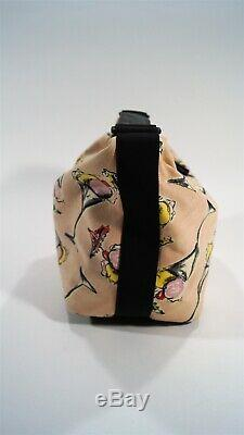 Authentic 2003 CHANEL Cruise Collection Ice Cream Motif Pink Canvas Hobo Bag