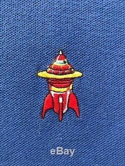 BBC/ICECREAM Billionaire Boys Club Spaceship Blue Polo Shirt Mens Size L Large