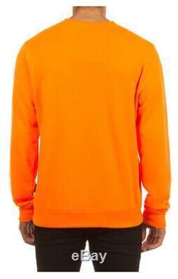 BBC ICECREAM Vail Crew Neon Orange 491-9307 Crewneck Brand New