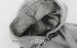 BBC/Ice Cream Bow Tie Print Insulated Hood Full-Zip Hoodie grey men's L