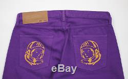 BBC/Ice Cream Embroidered Helmet Logo Pants purple gold men's L