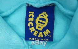 BBC/Ice Cream ICE CREAM SKATER HOODIE light blue mens L