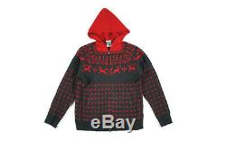 BBC/Ice Cream REINDEER KNIT HOODIE charcoal red men's L