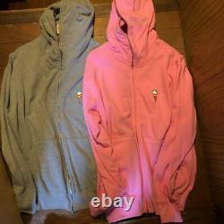 BBC Ice Cream Rockin Jelly Bean Hoodie Set Gray & Pink Size L Pharrell N. E. R. D