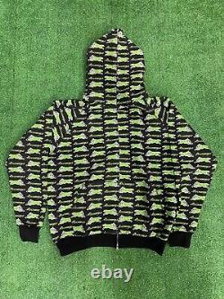 BBC Ice Cream X Psychworld Men Hoodie Authentic Lime Green Fox Logo
