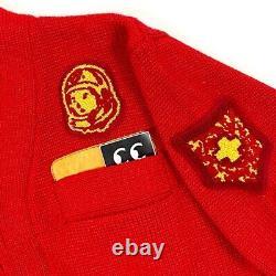 BILLIONAIRE BOYS CLUB ASTRONAUT CARDIGAN PHARRELL RED 2010 Nigo Ice Cream Knit