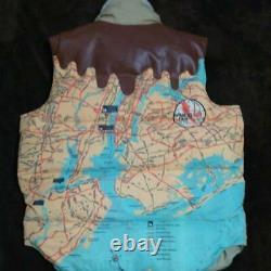 BILLIONAIRE BOYS CLUB BBC Map Down Vest Size L Pharrell N. E. R. D Ice Cream OG