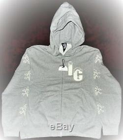 Bbc Ice Cream BONES X CONES Gray Hoodie Full Zip #Pharrell Large S5 RARE L #BBC