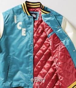 Bbc Ice Cream Mens Retro Varsity Teal Jacket Large