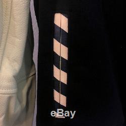 Bbc Ice Cream Mens Streetwear Dipped Varsity Black Jacket M L XL