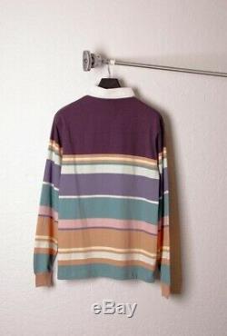Bbc Ice Cream Mens Streetwear Vintage Striped Polo Pop Ls Multi Knit S-xxl