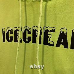 Bbc Ice Cream Text Logo Pullover Hood Sweatshirt Infinite Acid Lime Hoodie