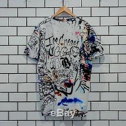 Bbc Icecream Men Cones Graffiti Art Allover Graphics Beach House Knit Tee M L XL