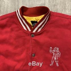 Billionaire Boys Club BBC Embroidered Ice Cream Varsity Bomber Jacket Sz L RARE