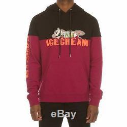 Billionaire Boys Club ICE CREAM SPLICE Hoodie Pullover 491-2304 BLACK NWT