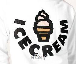 Billionaire Boys Club ICE CREAM Vanilla Crew Crewneck Sweater White 491-1307 NWT