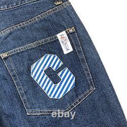 Billionaire Boys Club Ice Cream I C Patch Denim Jeans Pants Size L 36x31 Blue