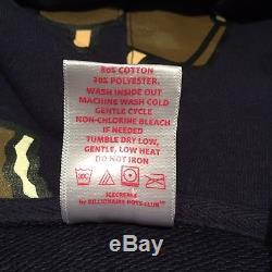 Billionaire Boys Club Ice Cream Men Large Hoodie Bar Monoprint Navy Full Zip EUC