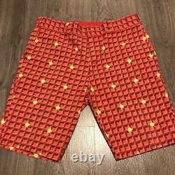 Billionaire Boys Club Ice Cream Mens BBC Shorts Sz Large Red Cotton