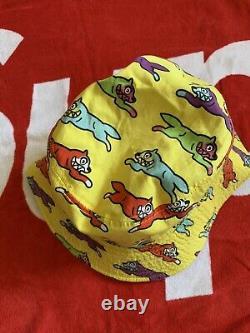 Billionaire boys Club bucket hat BBC Ice cream running dog yellow RARE Red Blue
