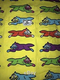 Billionaire boys club Bbc Button Up Shirt yellow red ice cream running dog green