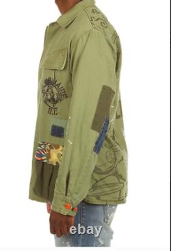 Billionaire boys club bbc fatigued jacket new L large camo olive ice cream