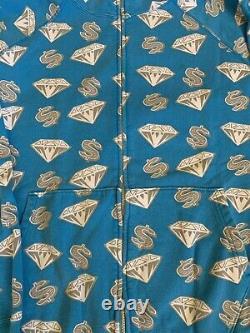 Billionaire boys club hoodie Diamond And Dollars Rare blue OG Ice Cream Large