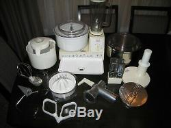 Bosch Universal MUM Machine COMPLETE ice cream metal bowl grinder slicer more