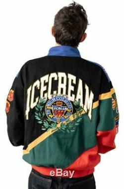 Brand New 2020 ICECREAM Waltrip Racing Jacket Black Green Red Ice Cream BBC