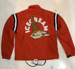 Brand New 2020 Ice Cream Adams Coaches Jacket Tomato Red 401-2400 BBC ICECREAM