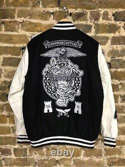 Brand New Crooks and Castles Varsity Letterman Style Jacket Size L BBC Ice Cream