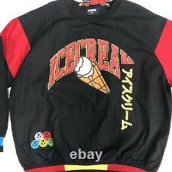 Brand New ICECREAM ELDERBERRY Black Crew Pullover Jacket BBC Ice Cream