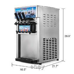 CE 18L/H 3 Flavor Frozen Yogurt Cone Maker Commercial Soft Ice Cream Machine