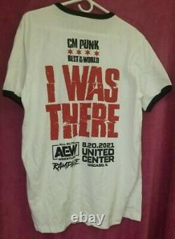 CM PUNK AEW First Dance Rampage I Was There Event Shirt Size L + Ice Cream Bar