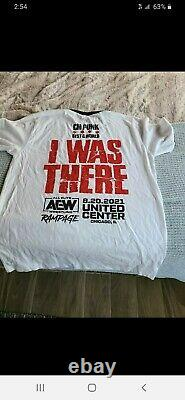 CM PUNK AEW First Dance Rampage I Was There Event Shirt Size L +icecream wrapper